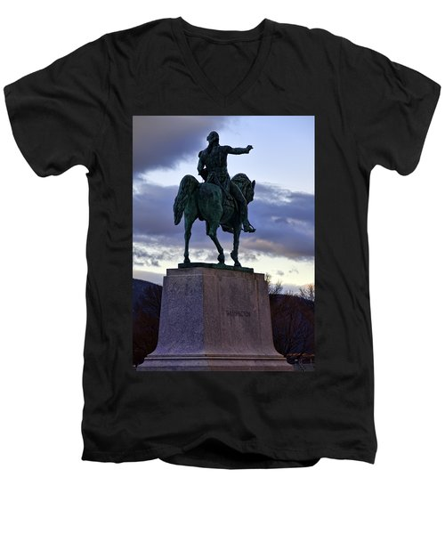 Washington Monument At West Point Men's V-Neck T-Shirt