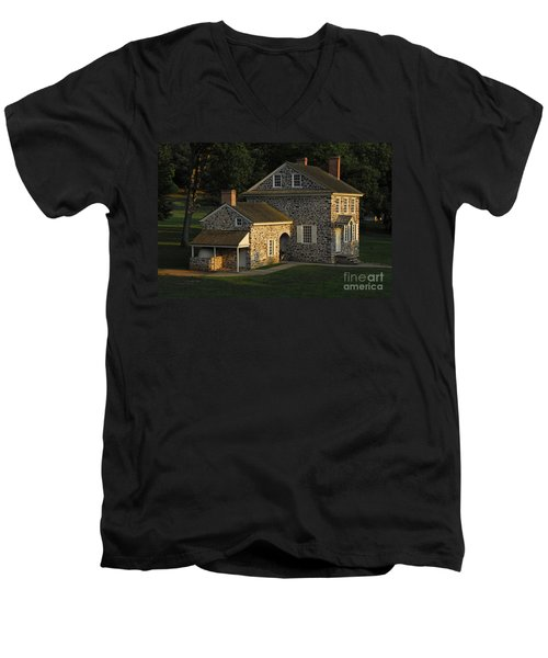 Washington's Headquarters At Valley Forge Men's V-Neck T-Shirt by Cindy Manero
