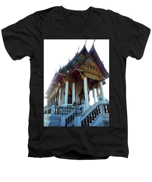 Wat Sawangfa 11 Men's V-Neck T-Shirt