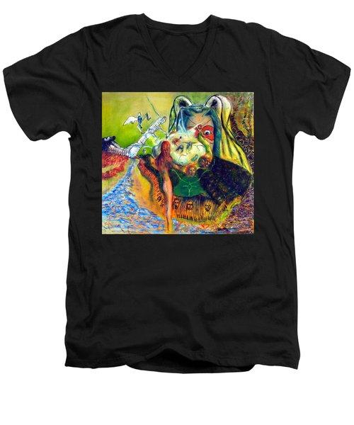 Watcher Of The Skies Men's V-Neck T-Shirt