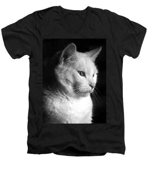 Watchful Men's V-Neck T-Shirt by Bob Orsillo