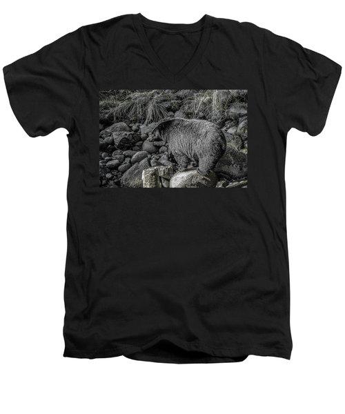 Watching Black Bear Men's V-Neck T-Shirt