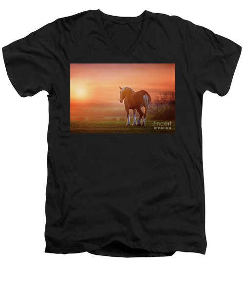 Watching The Sunset Men's V-Neck T-Shirt by Tamyra Ayles