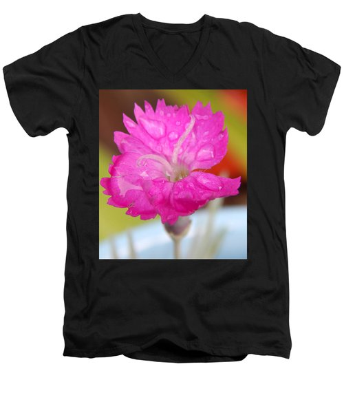 Water Bug Flower Men's V-Neck T-Shirt