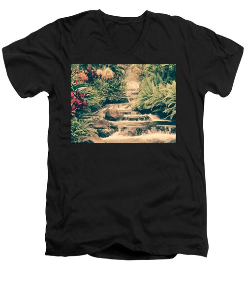 Men's V-Neck T-Shirt featuring the photograph Water Creek by Sheila Mcdonald