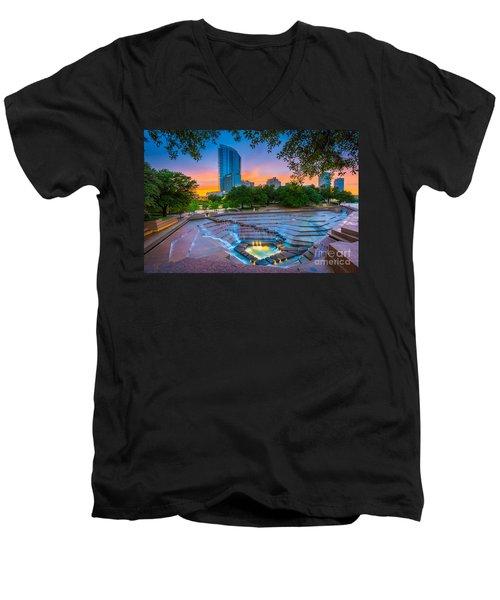 Water Gardens Sunset Men's V-Neck T-Shirt
