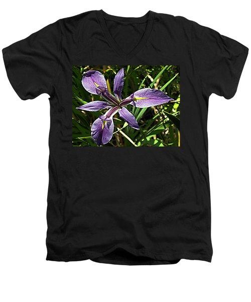 Water Iris Men's V-Neck T-Shirt