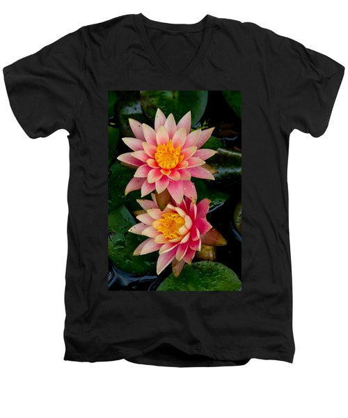Water Lilies Men's V-Neck T-Shirt by Brent L Ander