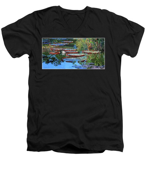Water Lilies For Amelia Men's V-Neck T-Shirt