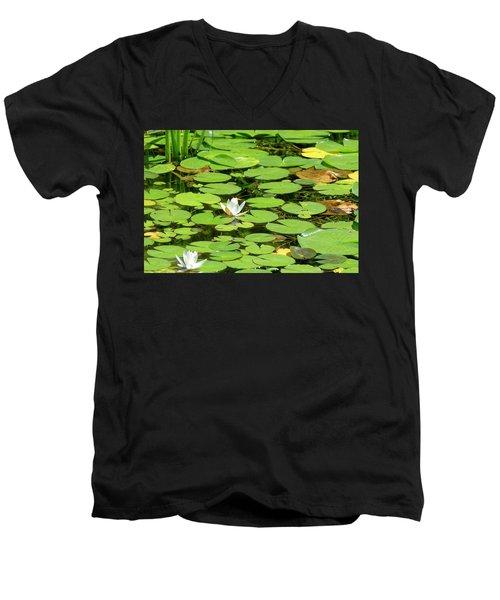 Water Lillies Men's V-Neck T-Shirt