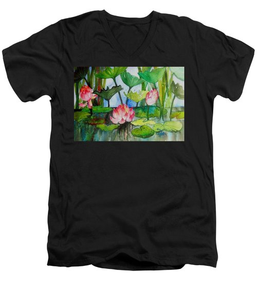 Water Lillies Two Men's V-Neck T-Shirt