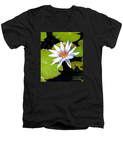 Water Lily 10 Men's V-Neck T-Shirt
