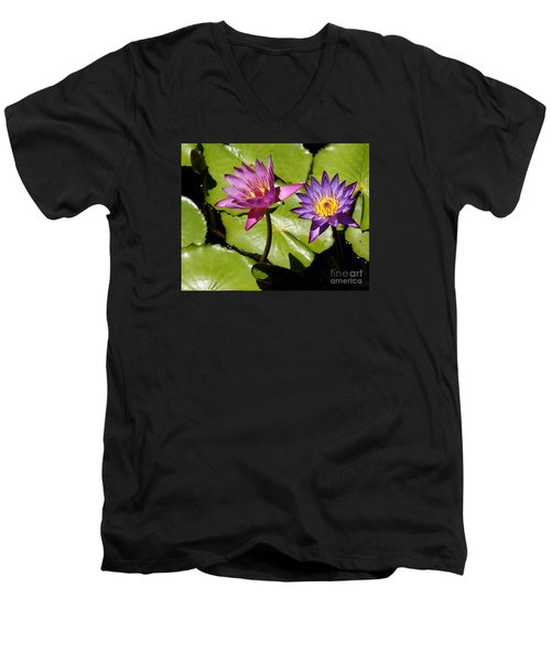 Water Lily 14 Men's V-Neck T-Shirt