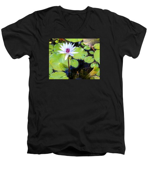 Water Lily 3 Men's V-Neck T-Shirt