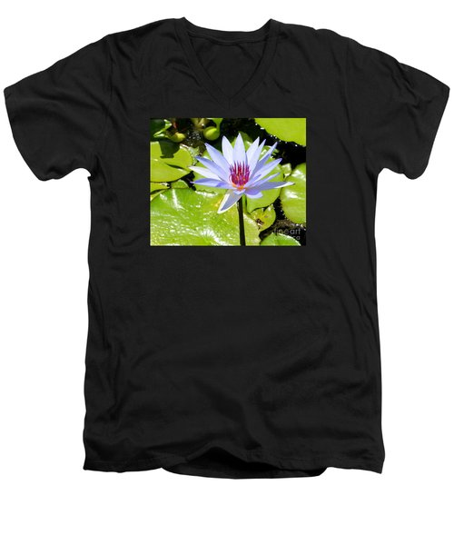 Water Lily 4 Men's V-Neck T-Shirt