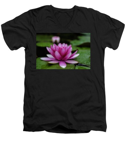 Water Lily After Rain Men's V-Neck T-Shirt