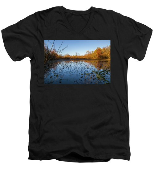 Water Lily Evening Serenade Men's V-Neck T-Shirt