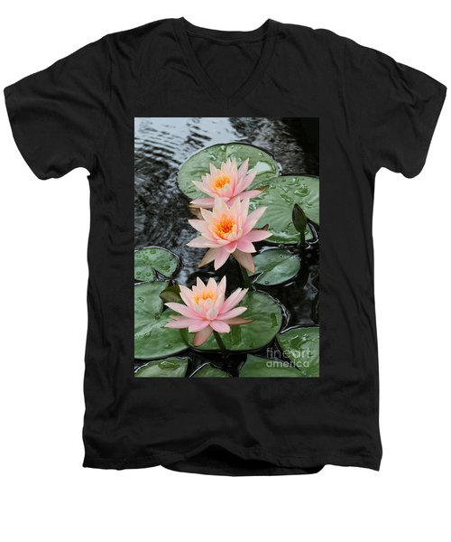 Water Lily Trio Men's V-Neck T-Shirt