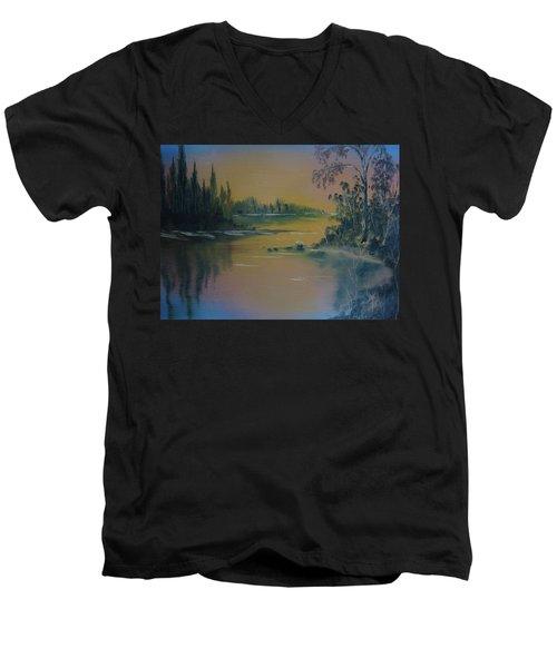 Water Scene 2a Men's V-Neck T-Shirt