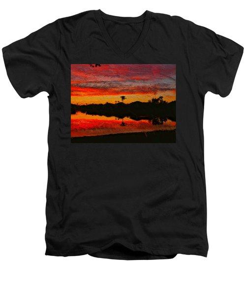 Winter Sunrise I Men's V-Neck T-Shirt