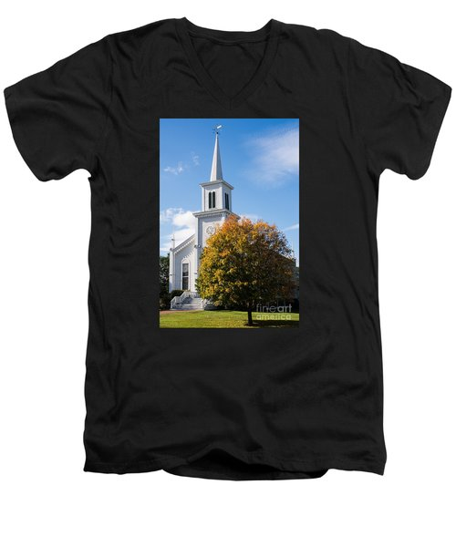 Waterbury Congregational Church, Ucc Men's V-Neck T-Shirt