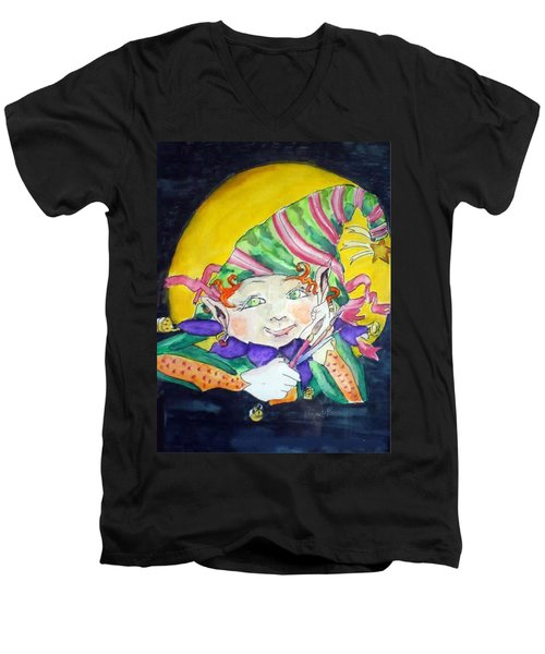 Elfin Artist Men's V-Neck T-Shirt
