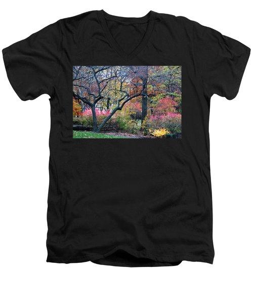 Watercolor Forest Men's V-Neck T-Shirt