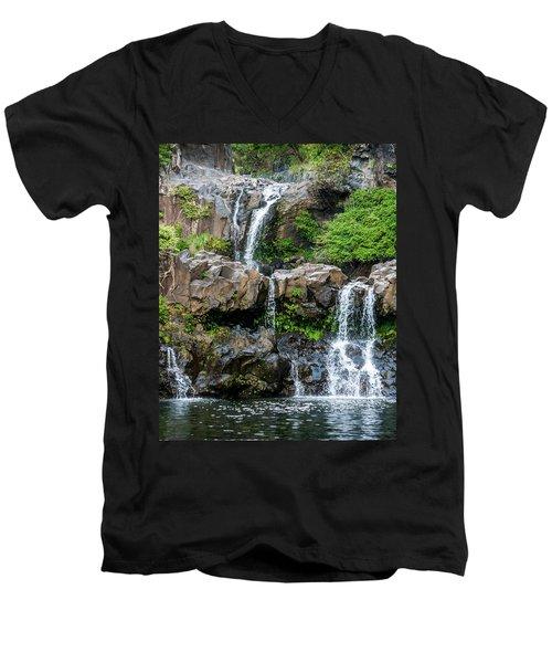 Waterfall Series Men's V-Neck T-Shirt