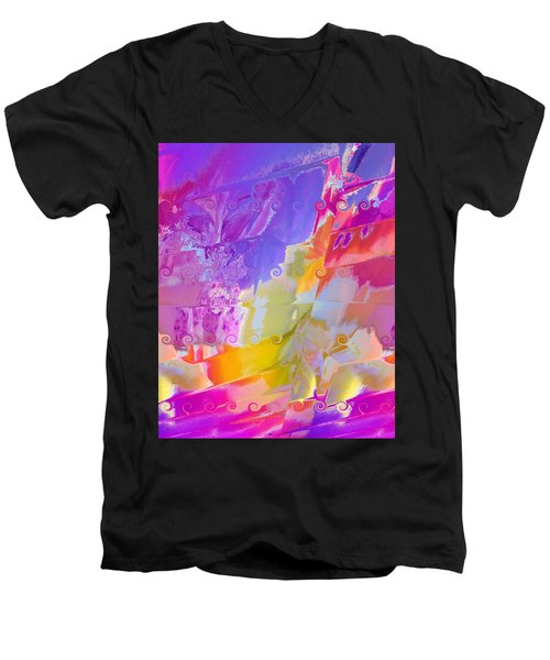 Waterfall Men's V-Neck T-Shirt by Alika Kumar