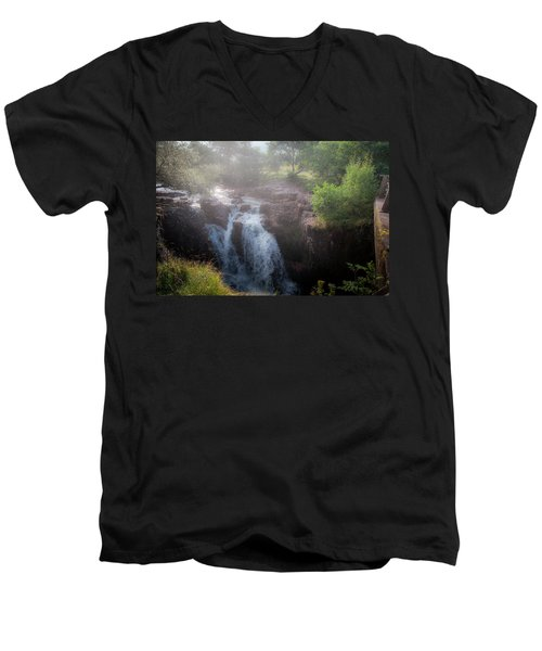 Men's V-Neck T-Shirt featuring the photograph Waterfall by Sergey Simanovsky