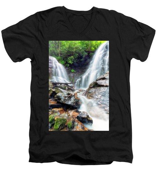 Waterfall Silence Men's V-Neck T-Shirt