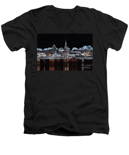 Waterfront Etching Men's V-Neck T-Shirt