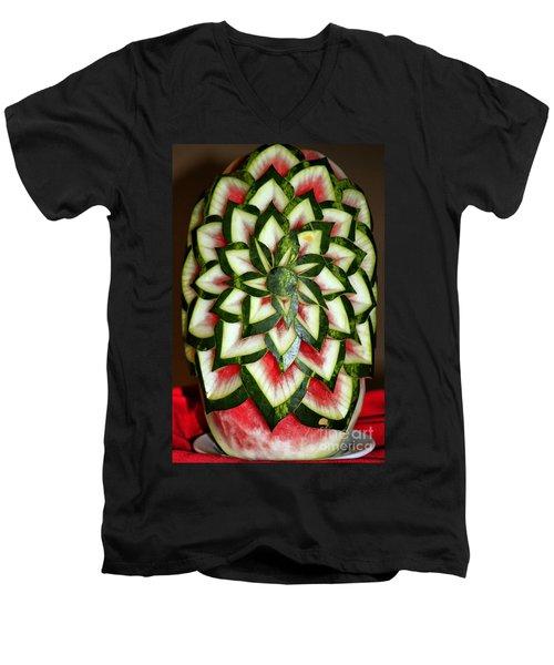 Watermelon Art Men's V-Neck T-Shirt