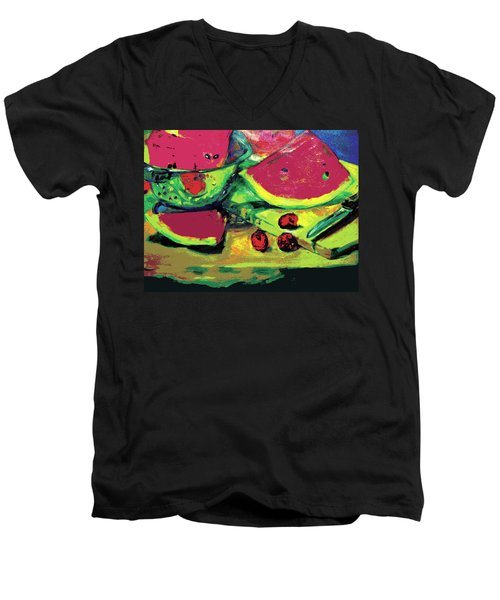 Watermelons Men's V-Neck T-Shirt