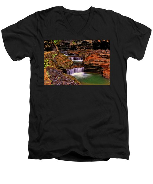 Watkins Glen State Park 014 Men's V-Neck T-Shirt