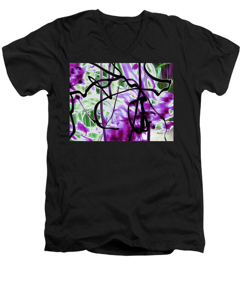 Waves Of Purple Men's V-Neck T-Shirt