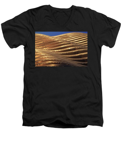 Waves Of Steel Men's V-Neck T-Shirt by Christopher McKenzie