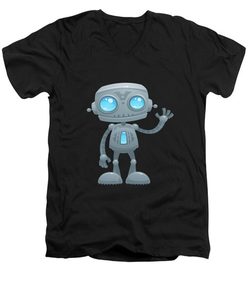 Waving Robot Men's V-Neck T-Shirt