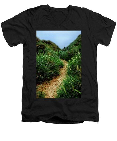 Way Through The Dunes Men's V-Neck T-Shirt