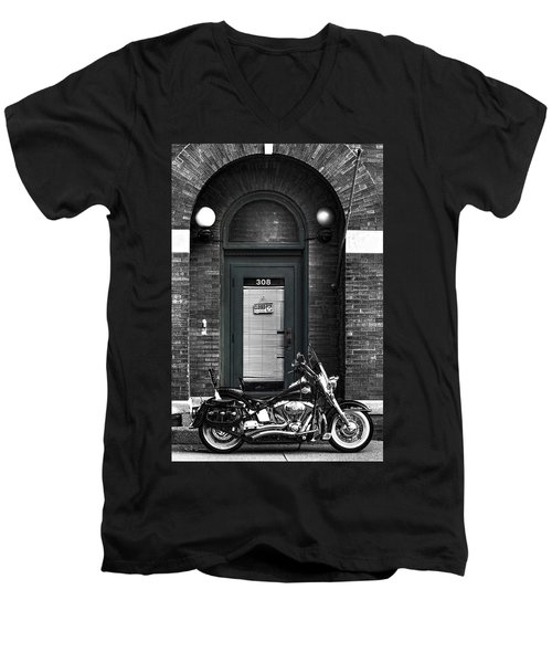Wayne's Harley Men's V-Neck T-Shirt