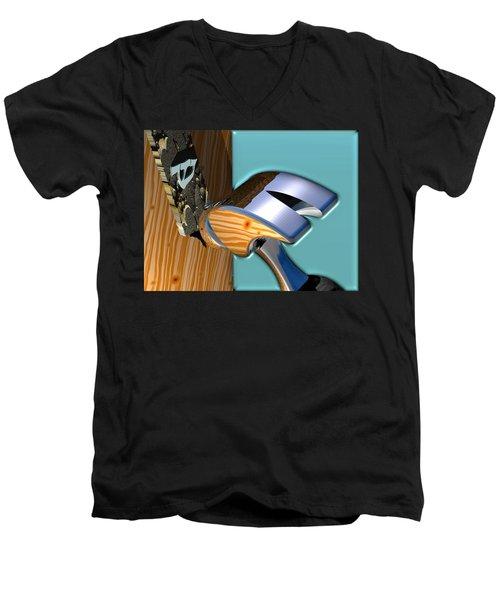 We Live Here Men's V-Neck T-Shirt