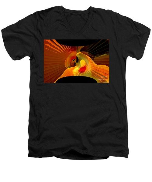 Wedding Between Sun And  Moon  Men's V-Neck T-Shirt by Thibault Toussaint