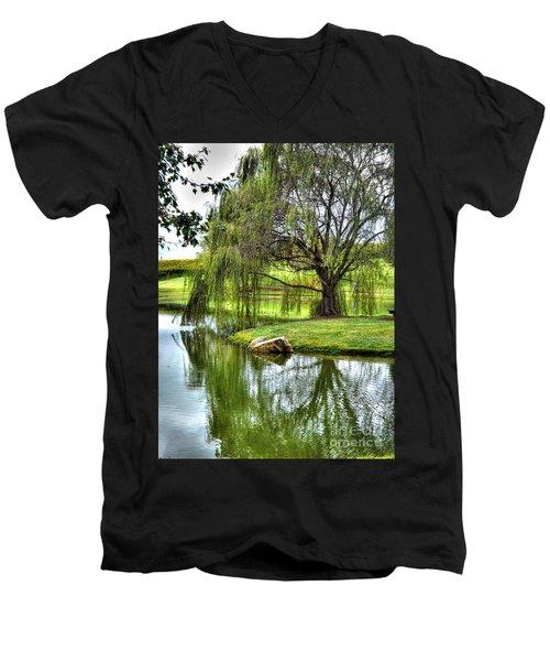 Weep No More Men's V-Neck T-Shirt by Christy Ricafrente