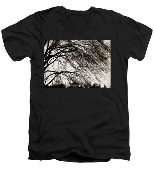 Weeping Willow Tree  Men's V-Neck T-Shirt by Carol F Austin