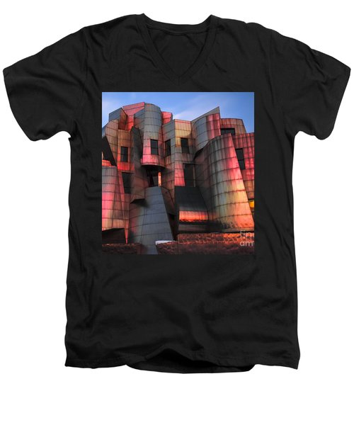 Weisman Art Museum At Sunset Men's V-Neck T-Shirt by Craig Hinton