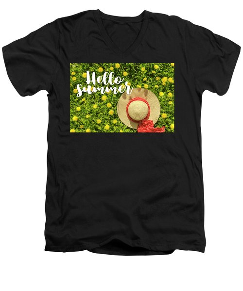Men's V-Neck T-Shirt featuring the photograph Welcome Summer by Teri Virbickis