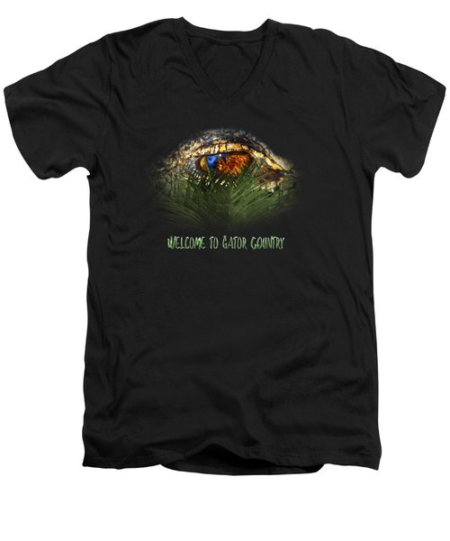 Welcome To Gator Country Design Men's V-Neck T-Shirt