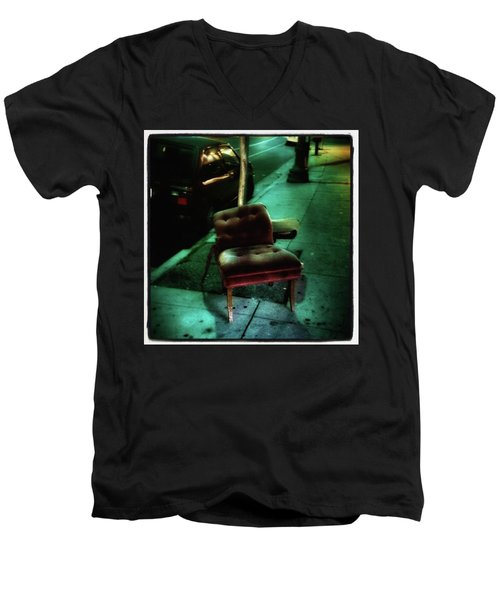 Men's V-Neck T-Shirt featuring the photograph Welcome To My Living Room, Pull Up A by Mr Photojimsf