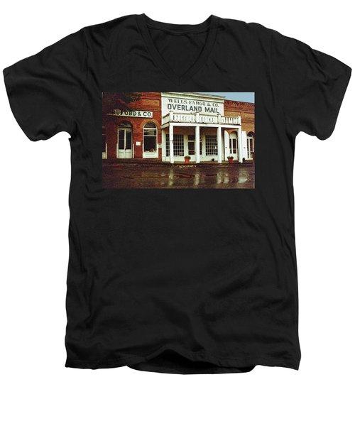 Wells Fargo Ghost Station Men's V-Neck T-Shirt