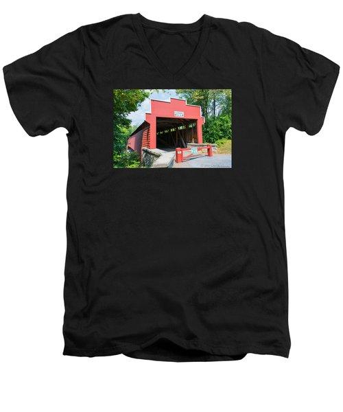Wertz Covered Bridge Men's V-Neck T-Shirt